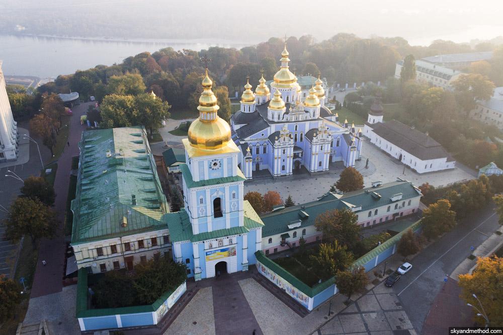 Аэросъёмка Михайловской площади