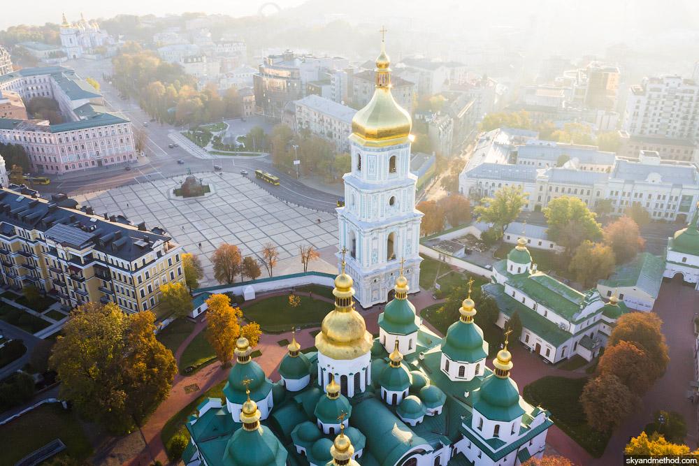 Аэросъёмка Софиевской площади