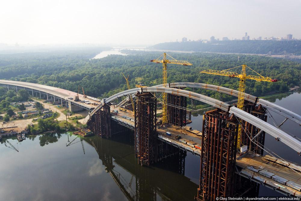 Аэросъёмка Подольско-воскресенский мост