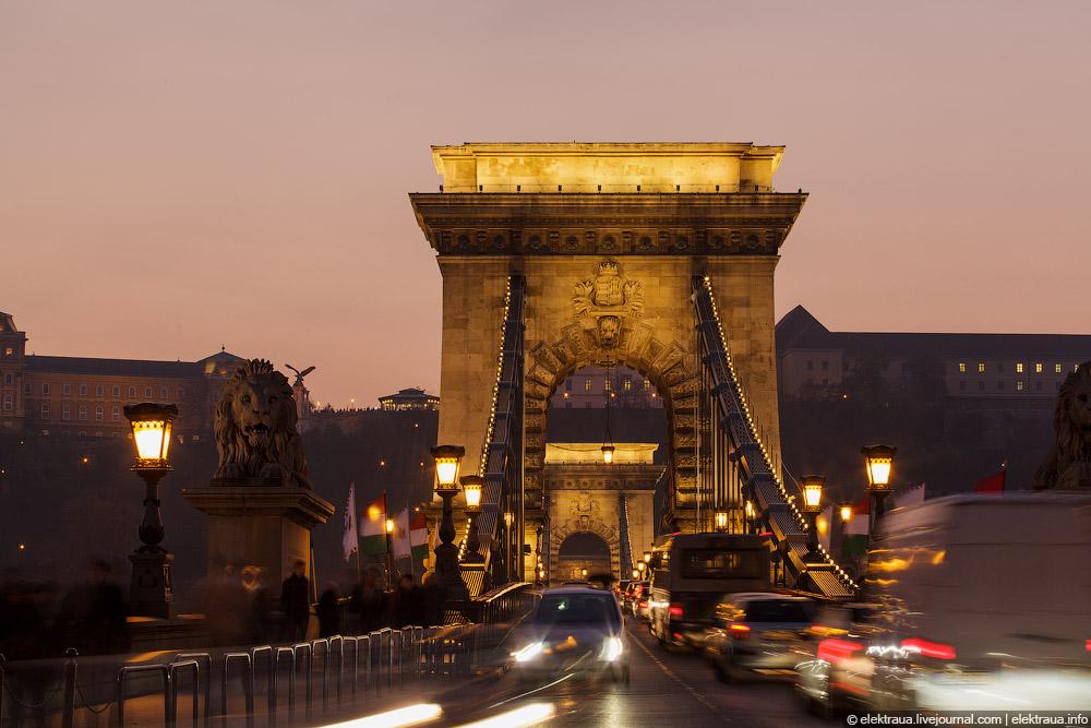 Будапешт. Мост Сечени